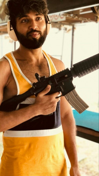 Photos: Vijay Deverakonda is enjoying gun shooting in Thailand's Krabis Gun Range and it is quite a sight
