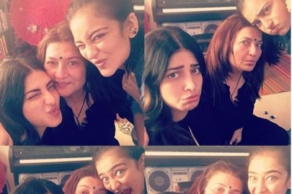 These photos of Shruti and Akshara chilling with mom Sarika are priceless