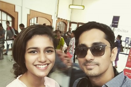 This pic of Siddharth with young sensation Priya Varrier is pure gold