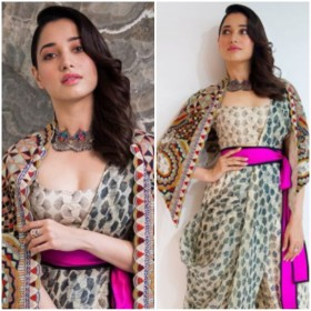 Tamannaah Bhatia proves she is all about style in this Anamika Khanna outfit!