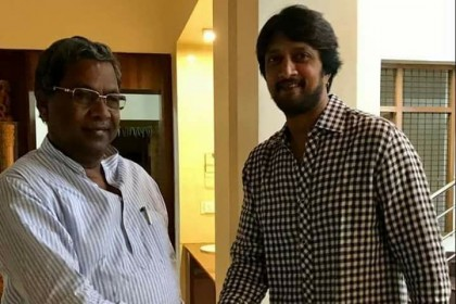 With Karnataka elections around the corner, Sudeep calls on CM Siddaramaiah