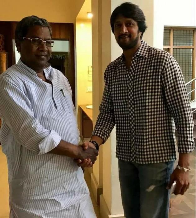 With Karnataka elections around the corner, Sudeep calls on CM Siddaramaiah