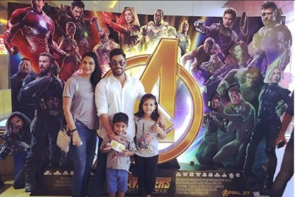 Allu Arjun with son Allu Ayaan watches Avengers: Infinity War- See photo!