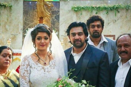 Meghana Raj and Chiranjeevi Sarja's wedding pictures from their Catholic wedding!