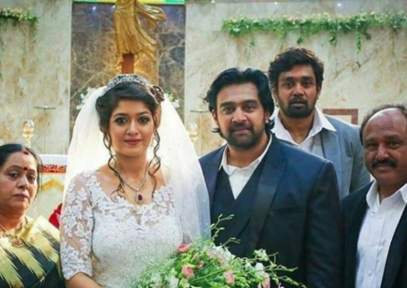 Meghana Raj and Chiranjeevi Sarja's wedding pictures from their Catholic wedding!