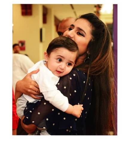 Winking sensation Priya Prakash Varrier's this adorable picture with a baby is unmissable