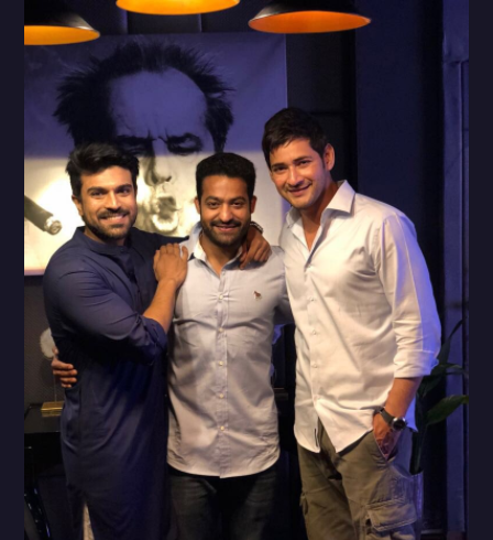Tollywood heartthrobs Mahesh Babu, Ram Charan and Jr. NTR in one frame is unmissable!