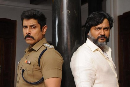 Chiyaan Vikram and Bobby Simha's swag is on point in this photo from Saamy Square