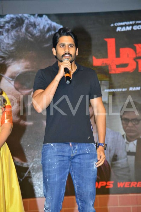 Photos: Akkineni Nagarjuna, Myra Sareen and Ram Gopal Varma grace the pre-release event of Officer