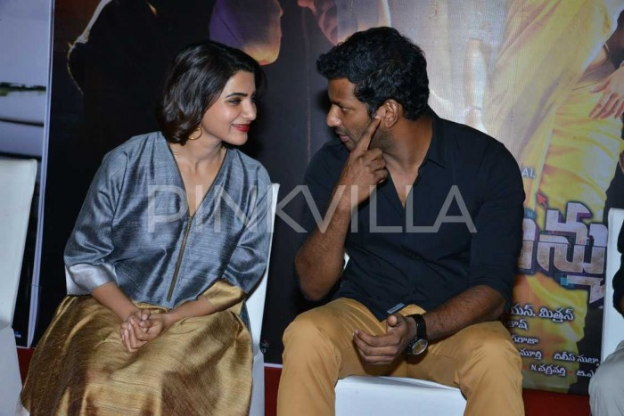 Photos: Samantha Akkineni, Vishal and Arjun Sarja attend Abhimanyudu meet