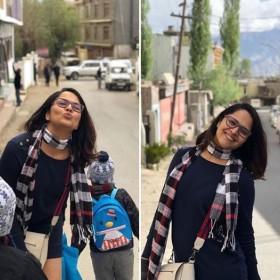 Rangasthalam Rangammatha Anasuya Bharadwaj is holidaying in Ladakh and these photos are pleasing