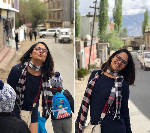 Rangasthalam Rangammatha Anasuya Bharadwaj is holidaying in Ladakh and these photos are pleasing