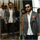 Photos: Ram Charan makes dapper appearance at a store launch in Hyderabad