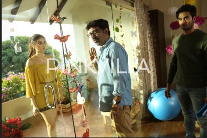 Behind the scenes photos from Aditi Rao Hydari's Telugu debut film Sammohanam