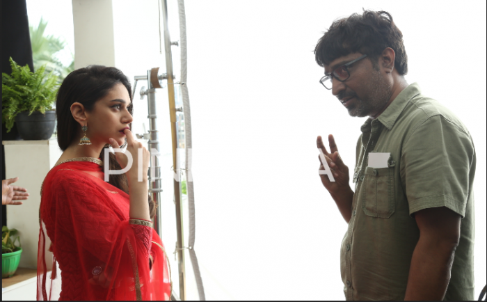 Behind the scenes photos from Aditi Rao Hydari's Telugu debut film Sammohanam