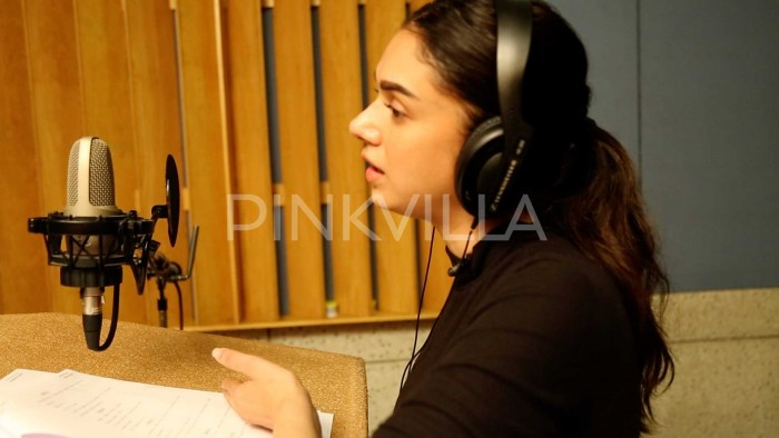 Photos: Aditi Rao Hydari begins dubbing for her Telugu debut film Sammohanam