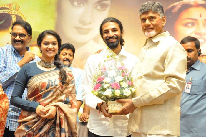 Photos: AP Chief Minister N Chandrababu Naidu meets and felicitates makers of Mahanati