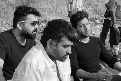 This picture of Arvind Swami, Simbu and Vijay Sethupathi from the sets of Chekka Chivantha Vaanam is pure gold