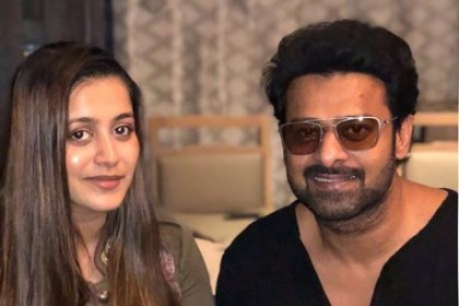 Photos: Prabhas meets Neil Nitin Mukesh and wife Rukmini to congratulate on their new beginnings