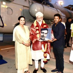 Puneeth Rajkumar meets PM Narendra Modi; Presents a book on his father and veteran actor Rajkumar