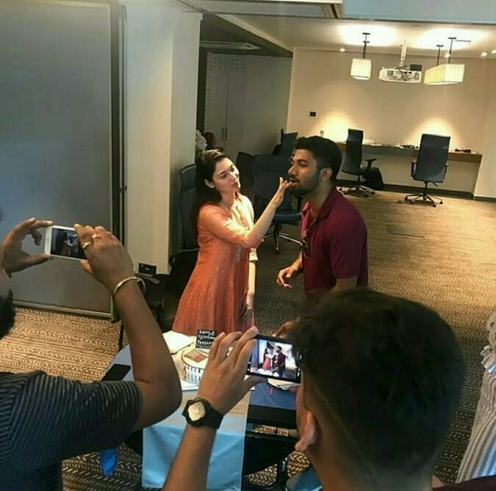 On first day on sets of Queen remake, director Prashanth Varma celebrates birthday with Tamannaah