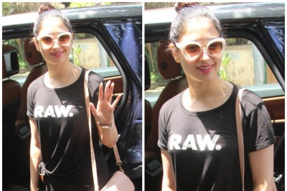 Photos: Tamannaah Bhatia spotted in a happy mood!
