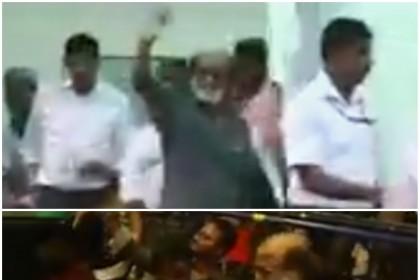 Watch: Kaala star Rajinikanth gets a huge welcome as he lands in Chennai