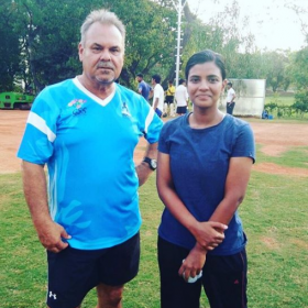 Aishwarya Rajesh trains with International cricket coach Dav Whatmore for her next Kanaa