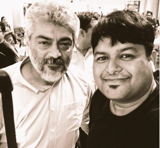 This selfie of Ajith with composer Thaman goes viral