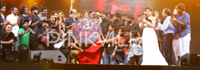 Photos: Rajinikanth at grand Kaala audio launch