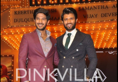 Style check: Dulquer Salmaan and Vijay Devarakonda make a dapper appearance at Mahanati audio launch!
