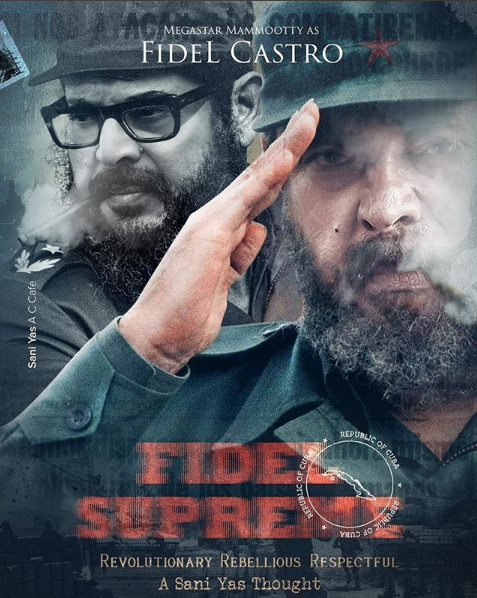 This unbelievable Fan-made poster of Mammootty as Fidel Castro is going viral