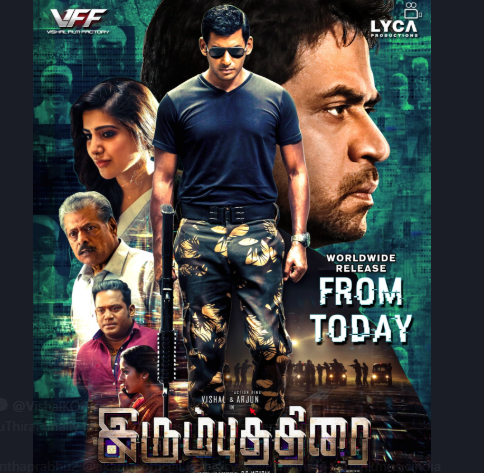 Vishal's Irumbu Thirai releases, tight police security outside cinema halls