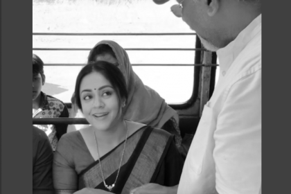 Check out the first glimpse of Jyothika and Simbu from the sets of Chekka Chivantha Vaanam