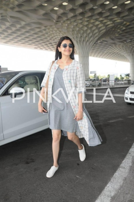Photos: An ultra-stylish Kajal Aggarwal spotted at Mumbai airport
