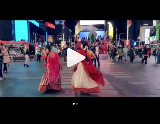 Watch: Mahanati madness reaches Times Square in New York!