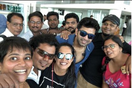 Mani Ratnam's Chekka Chivantha Vaanam team is set for Dubai. See photos