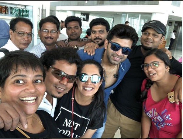 Mani Ratnam's Chekka Chivantha Vaanam team is set for Dubai. See photos