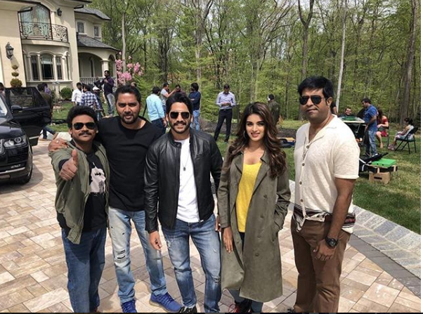 Naga Chaitanya, Nidhhi Agerwal clicked on the sets of their next Savyasachi in New York