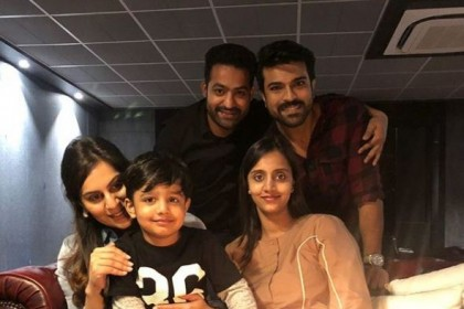 NTR and his wife Lakshmi Pranathi celebrate their 7th wedding anniversary with Ram Charan and his wife Upasana