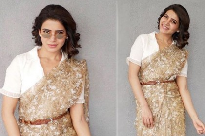 Samantha Akkineni gives a retro twist to her sari and we are in love with it!