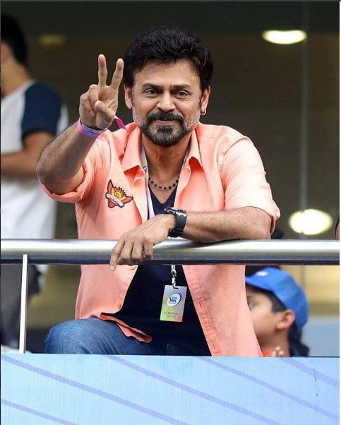 IPL 2018: Venkatesh Daggubati cheers for Sunrisers Hyderabad. Watch Video!