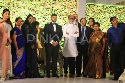 Photos: Kamal Haasan, Rajinikanth and others at Ananthi-Vinoth's wedding reception
