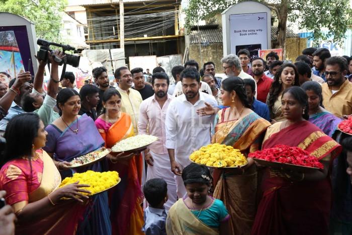 Photos: Suriya, Karthi and Sayyeshaa grace the audio launch of Kadaikutty Singam