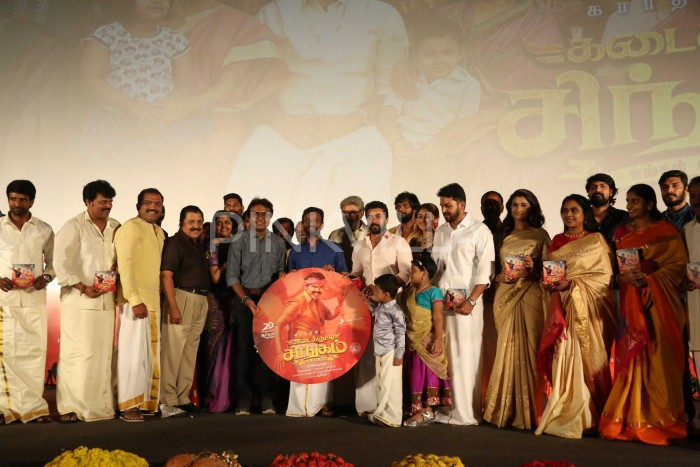 Photos: Suriya, Karthi and Sayyeshaa grace the audio launch of Kadaikutty Singam