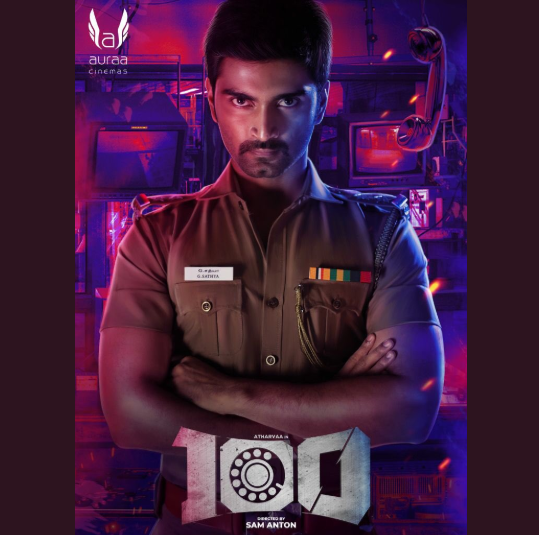 The first look poster of Atharvaa's next film 100 is out and it's captivating!