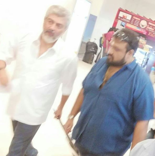 Photos: Ajith spotted at Chennai airport as heads to the shooting of Viswasam