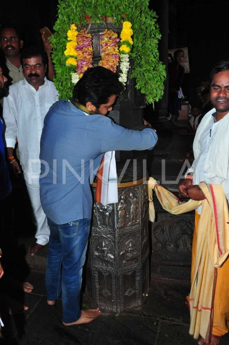 Photos: Suriya Sivakumar and Karthi visit the famous Simhachalam temple bear Vizag