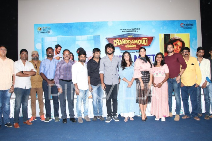 Photos: Gautham Karthik, Regina Cassandra and Varalakshmi Sarathkumar at Mr.Chandramouli promotions