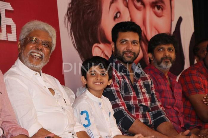Photos: Jayam Ravi celebrates son Aarav's birthday at Tik Tik Tik success meet